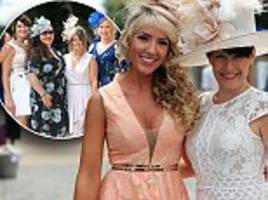 newmarket racegoers arrive for ladies day at the annual festival