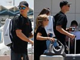 manuel neuer touches down in ibiza as german no 1 looks to leave nightmare world cup behind him