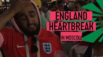 World Cup 2018: How England fans in Moscow reacted to semi-final against Croatia