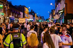 pictures show devastated brentwood high street after england crash out of world cup