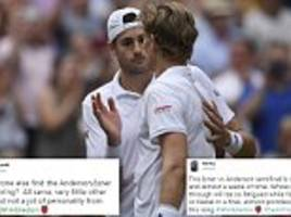 John Isner's Wimbledon semi-final against Kevin Anderson breaks records but fans aren't impressed