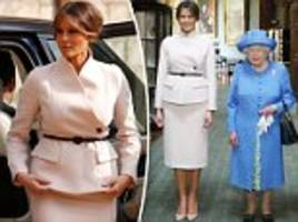 Melania Trump changes into Dior to meet the Queen at Windsor Castle