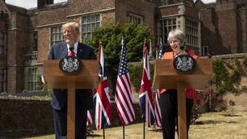 Donald Trump: Key moments from Chequers