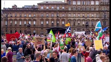 Anti-Trump protests in Glasgow
