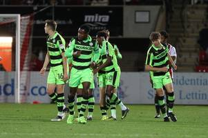 Cheltenham Town will face Forest Green Rovers and Coventry City in Checkatrade Trophy group stage