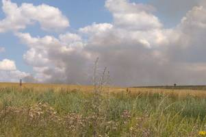 woman describes panic at waking up to 'burning smell' from salisbury plain fire