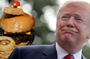 that time a pub in motherwell did a 'trump tower' burger