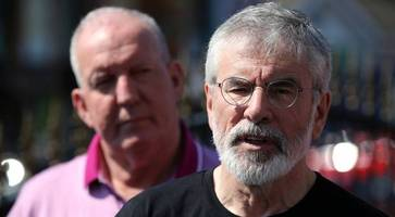 gerry adams tells perpetrators of attack to 'have the guts' to meet him