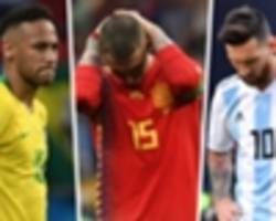 Neymar, Sampaoli's Argentina & the biggest disappointments of World Cup 2018