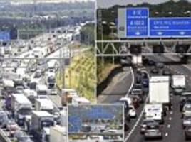 motorists caught up in four hour jam as cars back up for miles after a multi-car pile up on the m25