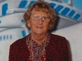pictured: pensioner, 84, who died days after she was violently attacked in her own home