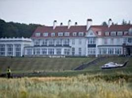 trump indulges in his 'primary form of exercise' at turnberry golf resort
