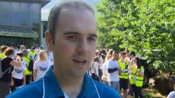 steffan lewis am: politicians unite for cancer walk