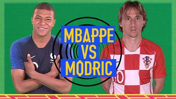 world cup 2018: kylian mbappe v luka modric - two world cup stars go head-to-head in final