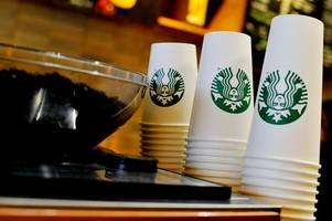 Starbucks to charge customers 5p to use a paper cup at its coffee shops