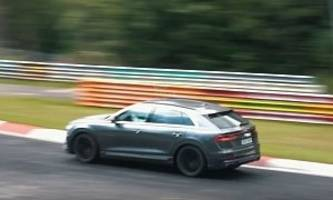 audi sq8 spied at nurburgring, sounds like v8 tdi with active sound