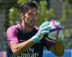 buffon gives away a penalty as psg stunned on legend's debut