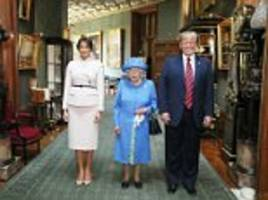 royal family 'snub' trump as queen left to meet the us president alone