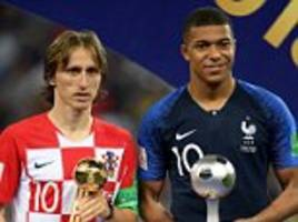 Luka Modric wins Golden Ball prize as he voted best player at World Cup