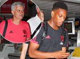 manchester united travel to los angeles for preseason tour with anthony martial on board