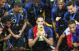 Watch France lift the 2018 FIFA World Cup™ trophy