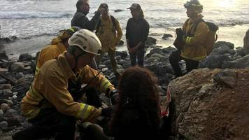 US woman rescued a week after California cliff plunge