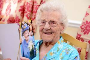 one of the grimsby area's oldest residents olive france marks her 105th birthday with a song and touching her toes twice