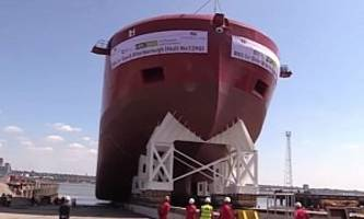 boaty mcboatface ship launches as rrs david attenborough