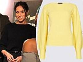 marks & spencer re-issues meghan's sell-out jumper in yellow