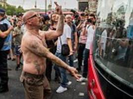Social media users blast 'harassment' of Muslim bus driver by 'Free Tommy Robinson' supporte