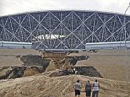 two russia world cup stadiums have already started to collapse