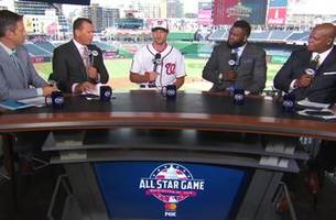 The FOX MLB crew interviews All-Star pitcher Max Scherzer