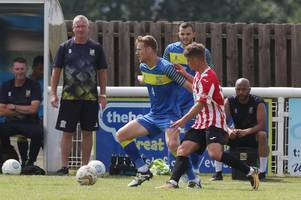 New-look Evesham United compete well with National League side until late goal flurry