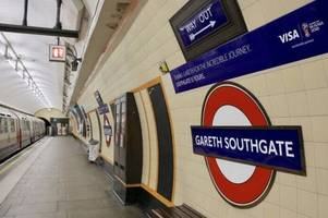 tube station renamed to honour gareth southgate after england's world cup heroics