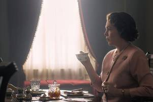 the crown release first picture of olivia colman in title role