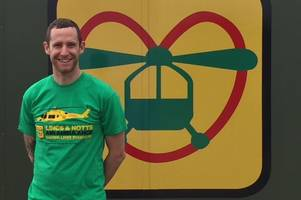 raf triathlon champion from brigg aims to raise hundreds of pounds for lincs & notts air ambulance