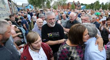 gerry adams and storey attackers are enemies of peace, says sinn fein's mcdonald