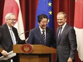 EU signs its biggest ever free trade deal with Japan amid turmoil over post-Brexit plan