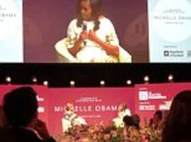 Michelle Obama slams Donald Trump as being 'mediocre' at charity event in Scotland
