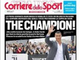 'the champion!' ronaldo gets exceptional welcome from italian press who claim 'fans are in delirium'