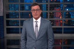 colbert 'shaken' by trump's 'spineless toadying to putin' (video)