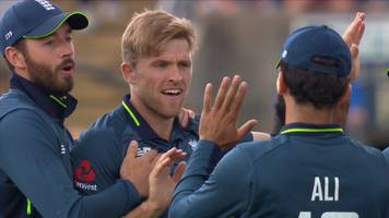 england v india: david willey removes rohit sharma for two