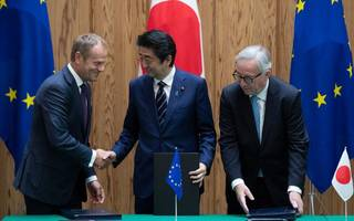 eu inks its largest trade deal ever with japan