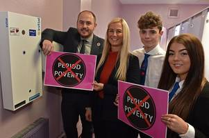 Thousands of free sanitary products handed out to young women in North Ayrshire schools