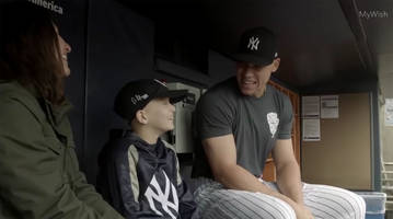 watch: nine-year-old boy fighting cancer meets aaron judge during surprise day with yankees