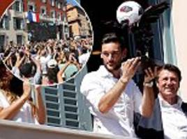 Hugo Lloris greeted by thousands of fans on Nice homecoming