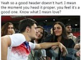 kyle walker's mickey-take of england team-mate harry maguire is twitter's world cup 'golden tweet'