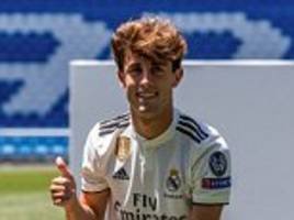 Real Madrid begin life after Cristiano Ronaldo by unveiling £35m defender Alvaro Odriozola