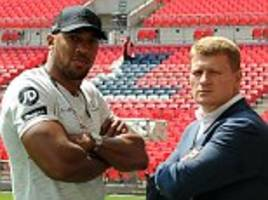 i'd rather lose than dope, claims anthony joshua