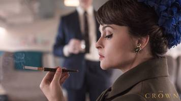 netflix released the first image of helena bonham carter looking fabulous as princess margaret in season 3 of 'the crown'